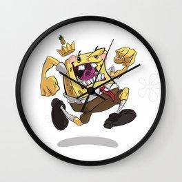 the Pineapple King Wall Clock