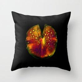 rainbow lily pad III Throw Pillow