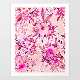 GIMME THAT Pink Wild Floral Art Print