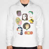 talking heads Hoodies featuring Heads by Ana Albero