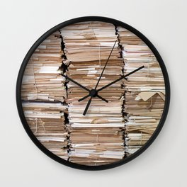 Pile of papers Wall Clock