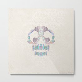 Aurora Quartz Skull Metal Print