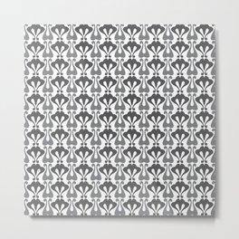 Vintage pattern grey Metal Print