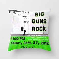 b i g g u n s r o c k  Throw Pillow