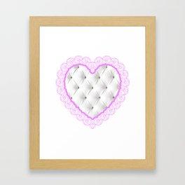 chesterfield heart Framed Art Print