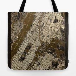 Central Park 1947, old vintage map, map poster new york Tote Bag