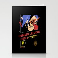 gurren lagann Stationery Cards featuring NES Gurren Lagann by IF ONLY