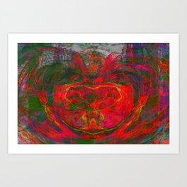 Chaos Face- Glowing Ember Art Print