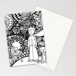 little prince zentangle art technique  Stationery Cards