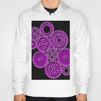 gears of war Hoodies featuring Purple Gears by WIGEGA