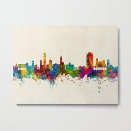 Lugano Switzerland Skyline Metal Print