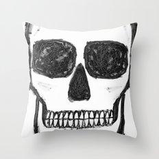 No. 89 - Black and white skull Throw Pillow