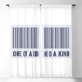 One of a kind - barcode quote Blackout Curtain
