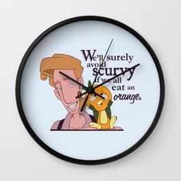 Scurvy Wall Clock
