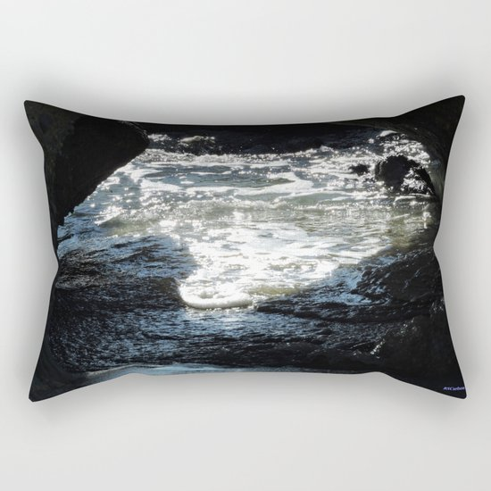 Laguna Beach Surf on the Rocks #1 Rectangular Pillow