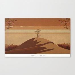 Minimalist Fantastic Mr.Fox Canvas Print