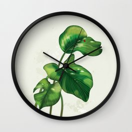 Big leaves and Ladybird Wall Clock