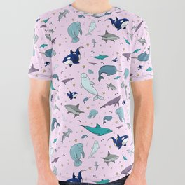 Marine Life All Over Graphic Tee