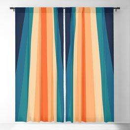 70's Retro Stripes Blackout Curtain