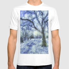 Blue Forest Van Gogh White MEDIUM Mens Fitted Tee
