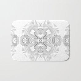 Infinite Optical Geometry Bath Mat