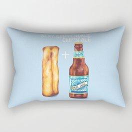 Food Pun - Sexy Chip 'N' Ale Rectangular Pillow