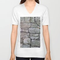 medieval V-neck T-shirts featuring MEDIEVAL FLOOR by Melania Emma