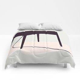 Minimal Table Pink Texture Comforters