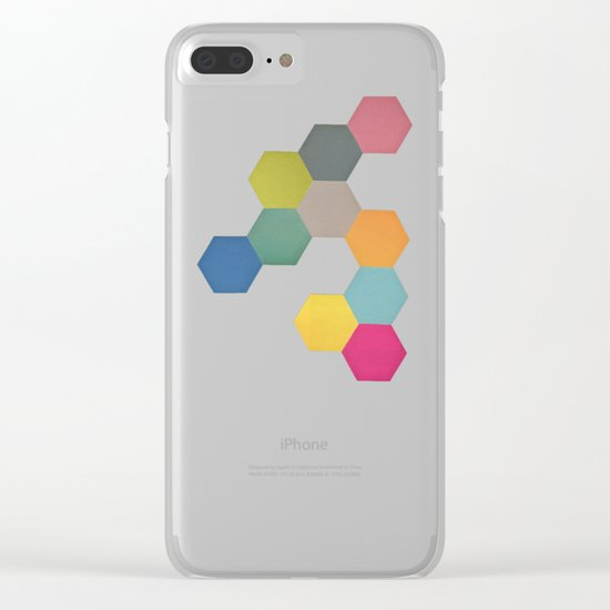 Honeycomb I Clear iPhone Case