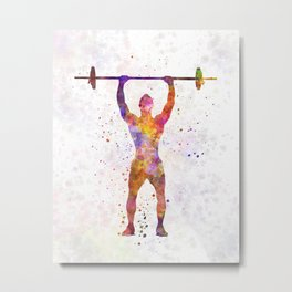 body buiding man isolated Metal Print