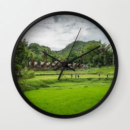 Toraja Indonesia Wall Clock