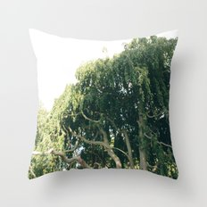 living in a tree Throw Pillow