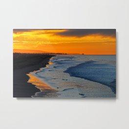 Huntington Beach Sunrise  ~  12/11/13 Metal Print