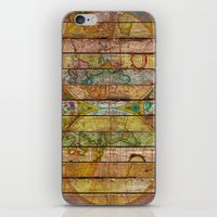 world maps iPhone & iPod Skins featuring Around the World in Thirteen Maps by Diego Tirigall
