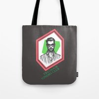 kevin russ Tote Bags featuring Kevin Baird by AnimatedWhale