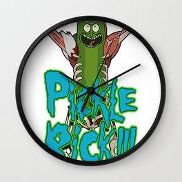 PICKLE RICK_vectorized Wall Clock