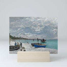 Claude Monet - The Beach at Sainte-Adresse Mini Art Print