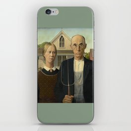 American Gothic by Grant Wood iPhone Skin