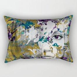 Abstract Art Composition Female face Rectangular Pillow