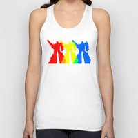 optimus prime Tank Tops featuring Optimus Prime Colors by Christopher