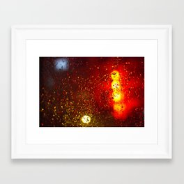 """Rainy Night"" Framed Art Print"