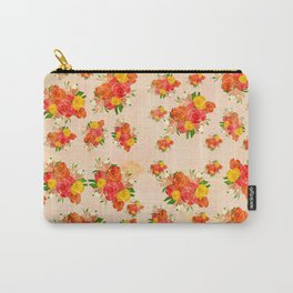 Blush Pink Vintage Floral Carry-All Pouch