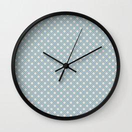"""tenugui""""shippou hamon"""" Wall Clock"""