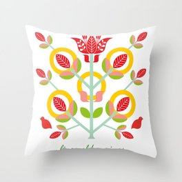 12 Days of Christmas - Five Gold Rings Throw Pillow