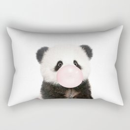 Bubble Gum Panda Bear Rectangular Pillow