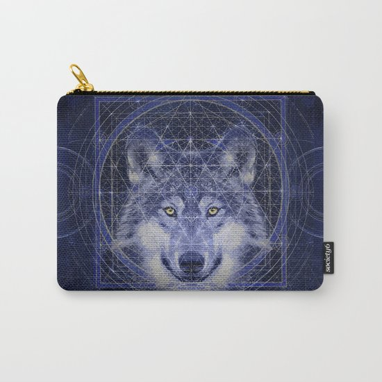 Wolf Geometry Carry-All Pouch