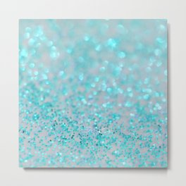 Sweetly Aqua Metal Print