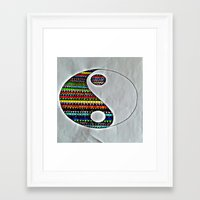 ying yang Framed Art Prints featuring Ying Yang by ArtSchool