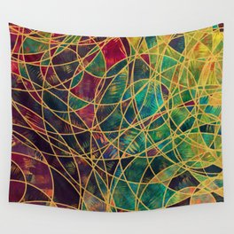 Wheels Of Life 3 Wall Tapestry