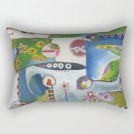 Suburban Maze Rectangular Pillow